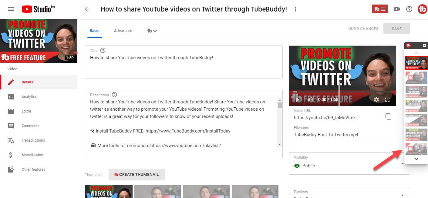 Features | TubeBuddy